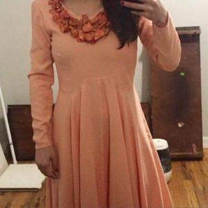 Custom designed salmon gown
